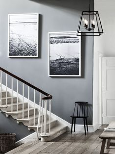 Grey hallway design ideas: 21 inspiring ways to decorate your hall Graue Flur-Design-Ideen: 20 inspi Hallway Colour Schemes, Hallway Paint Colors, Paint Colours For Hallway, Light Grey Paint Colors, Hallway Flooring, Hallway Walls, Gray Hallway, Grey Carpet Hallway, Neptune Home