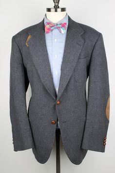 Dark Grey Weave Mens Tweed Jacket  Stafford Pure by ThePlaidBowTie