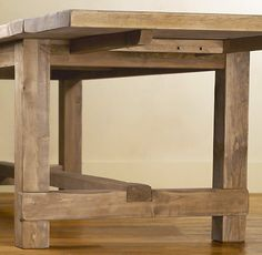 "Restoration Hardware Farmhouse Salvaged Wood Rectangular Extension Tables $2395-$2995 (112""-126"" with extensions)"