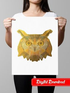 Shop for on Etsy, the place to express your creativity through the buying and selling of handmade and vintage goods. Owl Artwork, Beautiful Owl, Foil Art, Gold Foil Print, Printable Art, Starwars, Wall Art Prints, Waiting, Unique Jewelry
