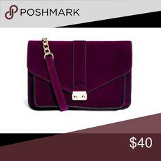 Asos Velvet Cross Body Bag Never used purple velvet and gold bag. ASOS Bags Crossbody Bags
