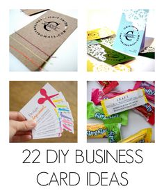 Fun business cards you can make yourself best of pinterest tons of really awesome and easy diy business card ideas solutioingenieria Image collections