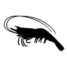 Shrimp With Long Antennas Die-Cut Decal Car Window Wall Bumper Phone Laptop