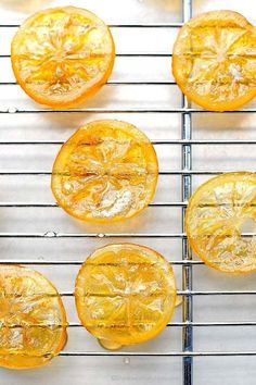 to make candied lemons. These easy Candied Lemons are a great addition to de. -How to make candied lemons. These easy Candied Lemons are a great addition to de. Meyer Lemon Recipes, Citrus Recipes, Lemon Desserts, Fruit Recipes, Just Desserts, Sweet Recipes, Dessert Recipes, Cooking Recipes, Gourmet Desserts