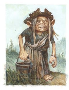 Gwyllion - A Scottish water fairy. They are mostly seen as a hairy men or hideous female spirits who waylay and mislead travelers by night on the mountain roads. Mountain fairies like to sit on rocks on either side of a mountain path and silently watch people as they pass by.