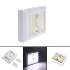 3W COB LED Switch Wall Night Light Battery Operated Magnetic Cabinet Camping Emergency Lamp