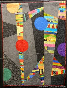 Color Addict by Frances Moore (Los Angeles, California).  2014 Road to California, photo by Quilt Inspiration.