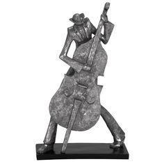 New Orleans Mardi Gras Jazz Cello Musician Figurine