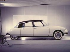 Citroen DS (1955)  It's not enough to admire the DS in all its glory on the street. One even wants to invite the DS over to the photo studio, and have a nice chat about the good uncomplicated life in the 50's over a cup of green tea and perhaps a mildly warm croissant.