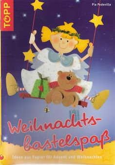 Topp - Weihnachts bastelspass Book Crafts, Diy And Crafts, Paper Crafts, Christmas Decorations, Christmas Ornaments, Holiday Decor, Advent, Painted Books, Paper Cutting