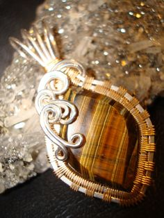 Brown Tiger Eye Pendant by superioragates on Etsy, $35.00