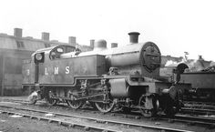 Rugby Shed - LMS 'Fowler Tank' No 3 stands in steam outside Rugby No 1 shed on August 1938 Heritage Railway, Steam Railway, Railway Museum, British Rail, Old Trains, Steamers, Steam Engine, Steam Locomotive, Diesel Engine