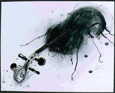 La metamorfosis Franz Kafka. ilustraciones de Luis Scafati. A traído por la música, Gregor se había atrevido a avanzar un poco y ya asomaba la cabeza por la puerta que daba a la sala de estar.