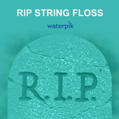 """""""String floss, you have been replaced by water flossing. That's right, water. A Waterpik® Water Flosser. A high pressured, pulsating water stream that not only cleans debris from my interproximal spaces, but also cleans the buccal and lingual walls of all my teeth."""""""