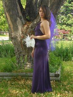 Purple Wedding Veil Two Layer Erfly French Barrette Irmaselegantboutique On Artfire Bridal Veils