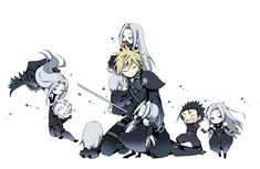 Image result for final fantasy sephiroth anime