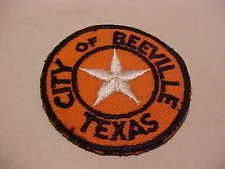 BEEVILLE TEXAS POLICE PATCH