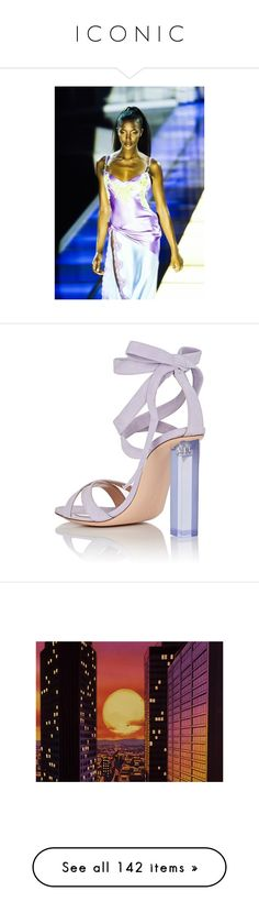 """""""I C O N I C"""" by melanijames on Polyvore featuring shoes, sandals, suede sandals, criss cross strap sandals, wrap sandals, open toe high heel sandals, ankle strap high heel sandals, pictures, backgrounds and filler"""