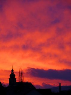 Sonnenaufgang am 27.12.2014 in Forchheim. Weitere Reiseziele: http://reiseziele.com