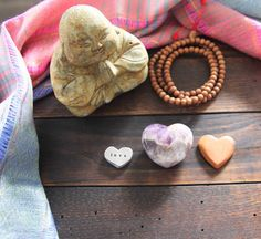 These chevron amethyst hearts help you connect to the stillness inside you and support your journey of becoming.