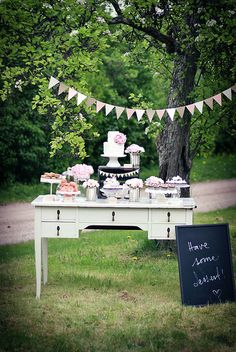 Dessert table by Call me cupcake