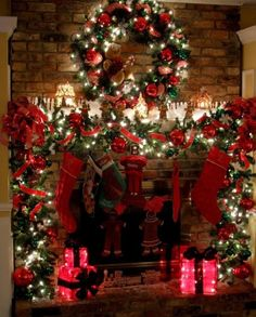 Elaborate beautiful mantle idea