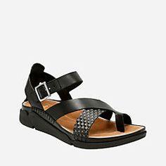daa1fad993e3a Tri Ariana Black Combi - Clarks® Sandals for Women - Clarks® Shoes Clarks  Sandals
