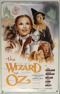 Poster The Wizard of Oz Movie Poster - O Mágico de Oz.