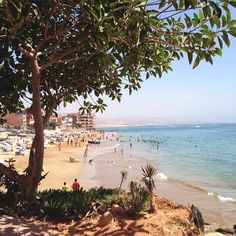 The beach of Taghazout that is right next doors #Morocco