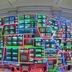 Nam June Paik, Electronic Superhighway, Washington, DC, United States - street view