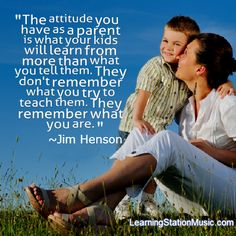 The importance of being a good role model for your children: You are your children's most important example of life. They learn by observing you and they are observing you even when you don't know it. It's up to you to set a good example for them. Be that person that you want your child to be… or even better!    #quotes #parenting
