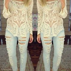 Love the shirt, not the ripped jeans.