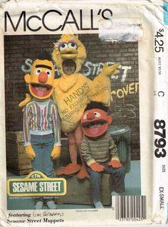 Toddler Sesame Street Bert Ernie Big Bird Sewing Pattern mcCalls 8793 by PeoplePackages