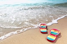Photo about Summer vacation concept--Flipflops on a sandy ocean beach. Image of ocean, island, tropical - 17556542 First Day Of Summer, Summer Fun, Summer Time, Happy Summer, Valencia, Relax, Ocean Beach, Beach Walk, Tgif