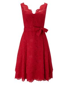 Phase Eight Milly Lace Dress Red
