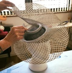 Millinery Workshops in France by Tracy Chaplin Sinamay Hats, Millinery Hats, Fascinator Hats, Fascinators, Headpieces, Race Day Hats, Hat Blocks, Hat Tutorial, Church Hats