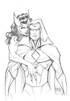 Vision and Scarlet Witch by guinnessyde on @DeviantArt