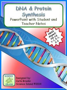 This DNA and Protein Synthesis Power Point and Notes product includes over 75 slides and provides an engaging visual approach to learning high school Biology concepts. The content is comprehensive enough to be used in place of a textbook if necessary, but since it's editable, you can customize it to complement any text or other resources you are using by adding, removing, or rearranging slides. Three versions of student  notes are also included!