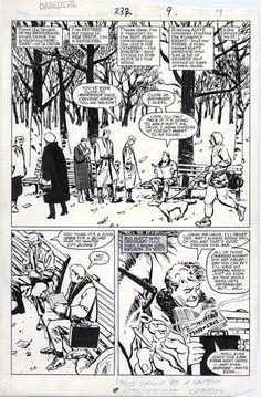 David Mazzucchelli's Daredevil: Born Again Artist's Edition - Top-Trends Comic Book Artists, Comic Artist, Comic Books Art, David, Anton, Daredevil Art, Comic Layout, Comic Book Panels, Comic Kunst