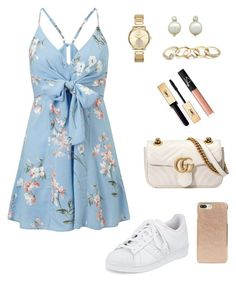"""""""Sneakers night"""" by yellowvanessa on Polyvore featuring moda, Miss Selfridge, adidas, Gucci, Michael Kors, Kate Spade, GUESS, NARS Cosmetics e Yves Saint Laurent"""