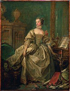 François Boucher, Portrait de Madame de Pompadour, vers 1750. Huile sur toile, 60 x 45 cm. Paris, Musée du Louvre (C) Photo RMN / © Thierry Le Magere