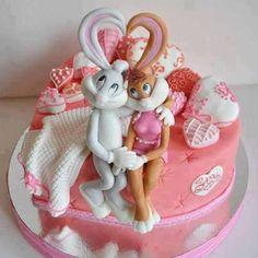 Tarta de Bugs Bunny y Lola enamorados