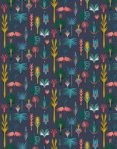 Julie Yulle papier peint tropical