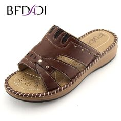 BFDADI 2017 New Wedges Casual Sandals Women's Sandals Slippers Women Summer Beach Slippers Slides size 36-42 2117 #Affiliate