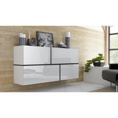 Dresser Drawer Shelves, Recycled Dresser, Commode Design, Flat Interior Design, Buffet Design, White Sideboard, Wardrobe Storage, Modern Dresser, Decoration Design