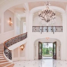 Change out chandelier and banisters for more modern pieces, and this room is a dream - Looking for affordable hair extensions to refresh your hair look instantly? http://www.hairextensionsale.com/?source=autopin-pdnew