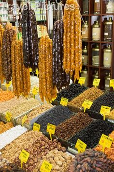 The spice bazaar or Misir Carşisi - Istanbul, Turkey.   The Spice Bazaar (Turkish: Mısır Çarşısı, meaning Egyptian Bazaar) in Istanbul, Turkey is one of the largest bazaars in the city. Located in the Eminönü quarter of the Fatih district, it is the second largest covered shopping complex after the Grand Bazaar.   http://en.wikipedia.org/wiki/Spice_Bazaar,_Istanbul