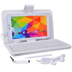 Come Buy From us today We got 1000s of name brand products At great prices Come check it out at www.allkindofproducts.com Maxwest Nitro Phablet71 Dual-Core 4GB 7 Unlocked Phone/Tablet w/4G Dual-SIM Android 4.4 Case Keyboard More (White) - iPads, Tablets & eBook Readers - Computers Tablets & Networking - Browse Categories