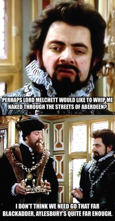 Blackadder and Melchett banter British Comedy Series, British Sitcoms, I Love To Laugh, Make You Smile, Blackadder Quotes, Funny Shit, Funny Stuff, British Humour, Rik Mayall