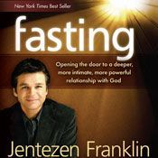 I'm 86% through Fasting (Unabridged) by Jentezen Franklin, narrated by Lloyd James on my Audible app.  Try Audible and get it free.